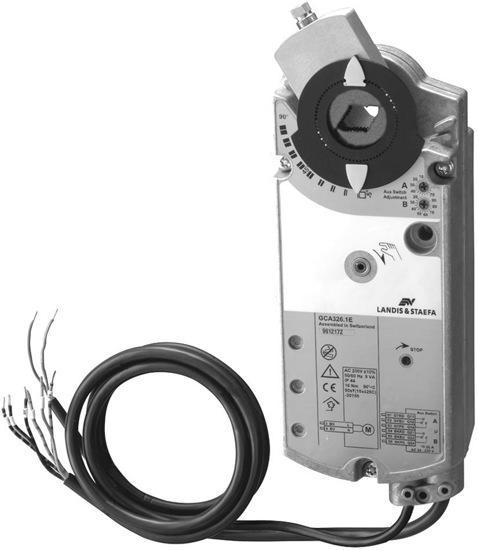 Эл.привод воздушной заслонки GCA 321.1E (18 Нм) с возвр. пружиной