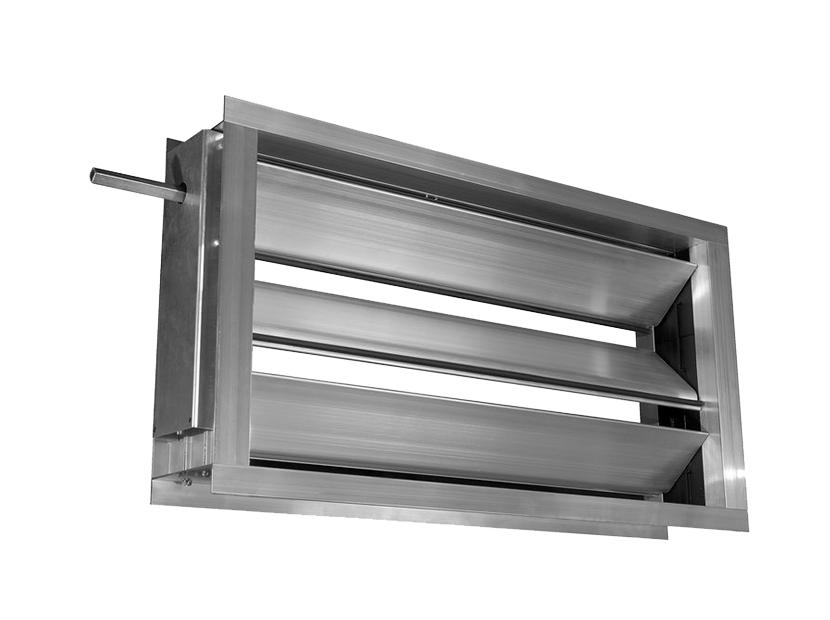 Воздушный клапан c подставкой под электропривод DRr 500х250