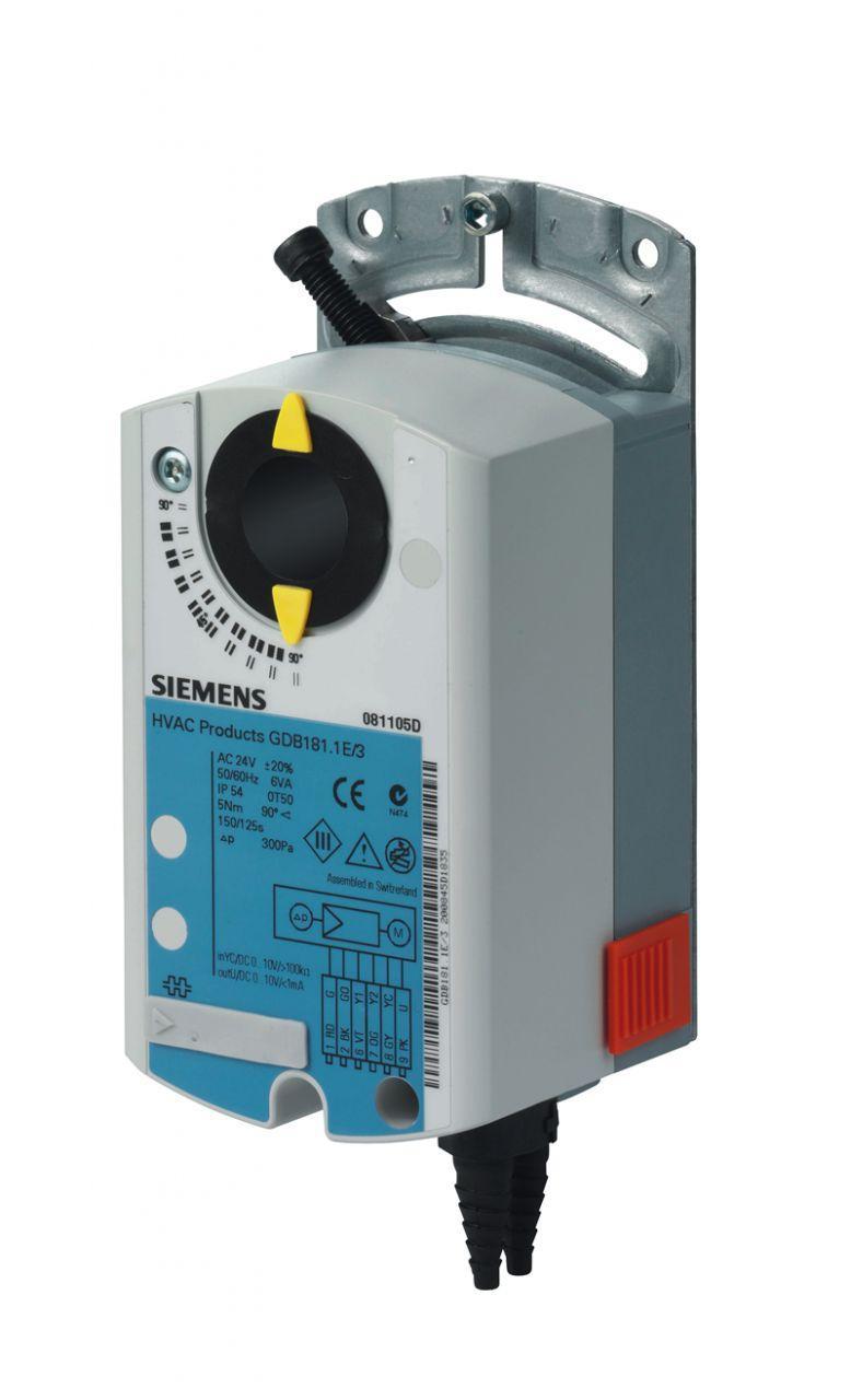 Эл.привод воздушной заслонки Siemens GDB 331.1E ( 5 Нм), 230В, 3-х позиционный