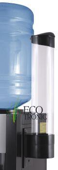 Держатель стаканов на шурупах Ecotronic (черный)