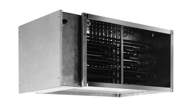 Эл/нагреватель для прямоугольных каналов EHR 500*250-12