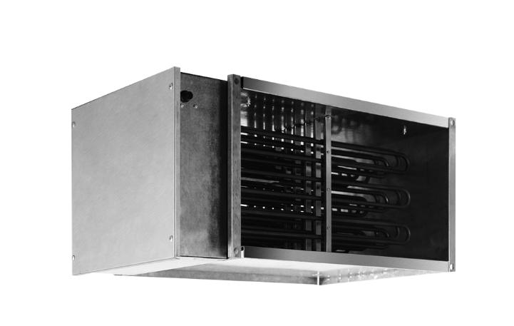 Эл/нагреватель для прямоугольных каналов EHR 800*500-90