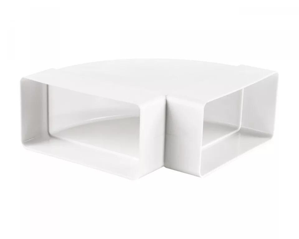 Колено горизонтальное пластик 90 град 60х120 ЭРА (612 КГП)