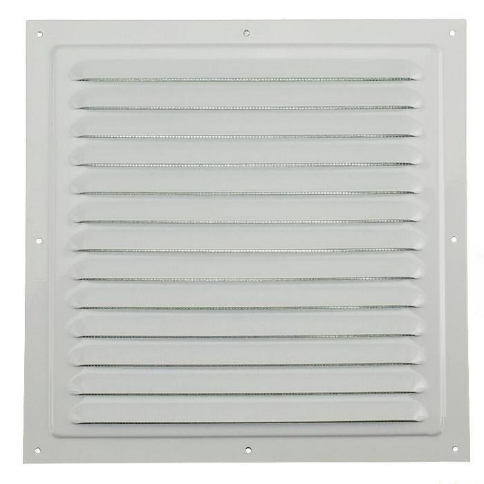 Решетка вентиляционная вытяжная стальная 150х150 ЭРА 1515МЭ с покрытием полимер эмалью