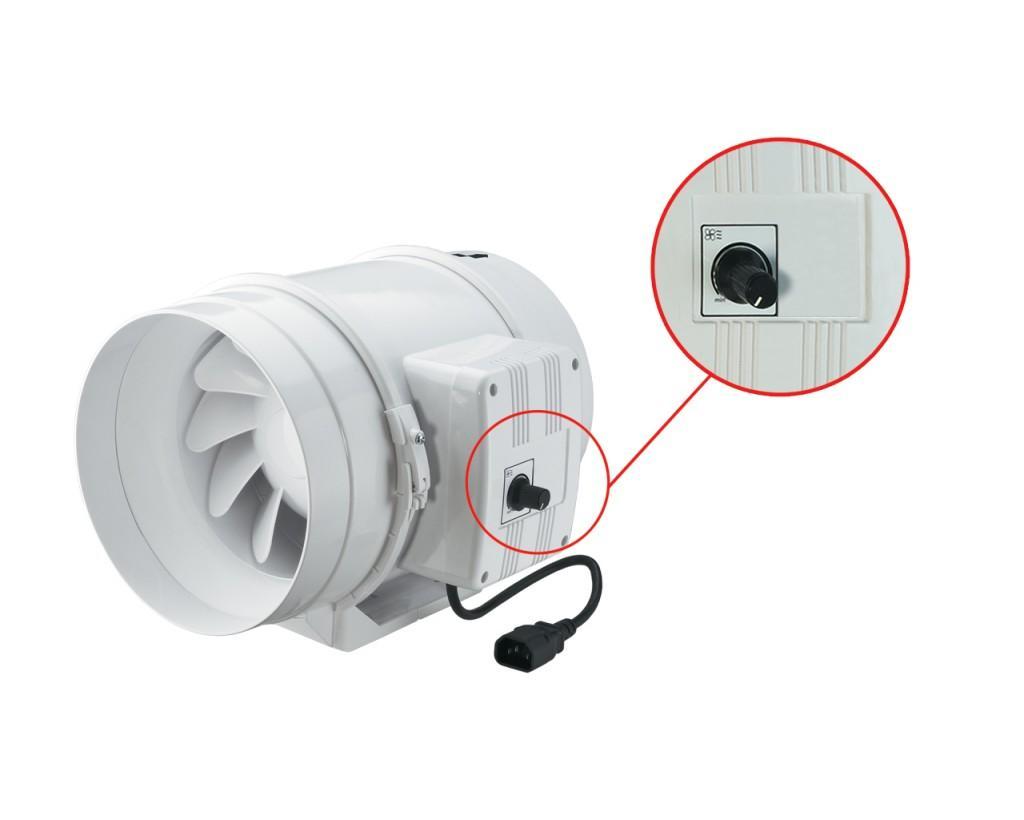 Вентилятор ТТ со встроенным регулятором оборотов.