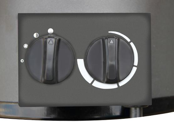Вкл/Выкл, регулировка мощности и температуры.