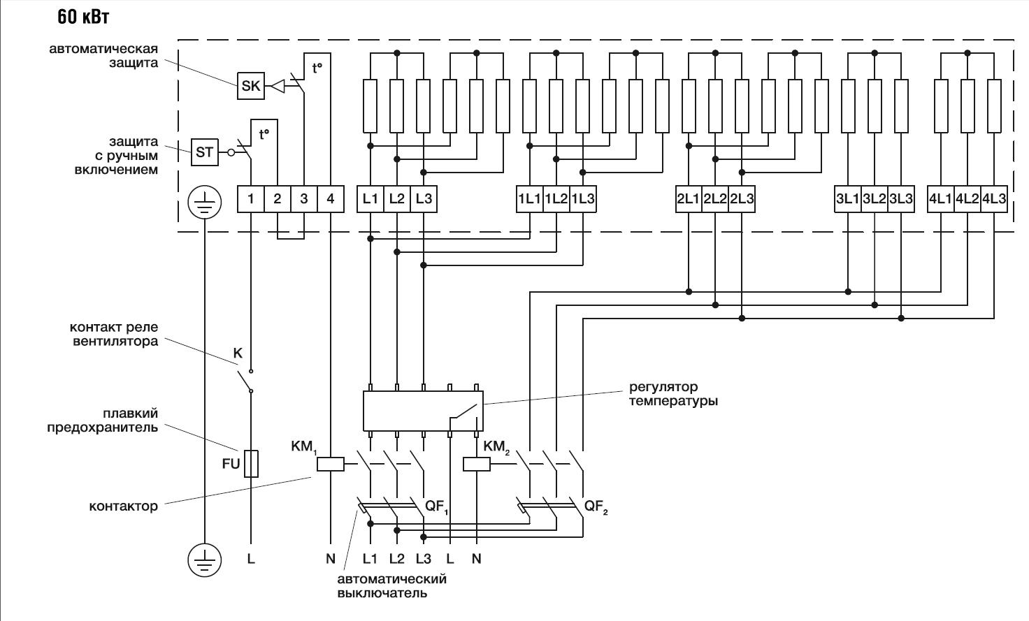 Эл/нагреватель для прямоугольных каналов EHR 800*500-60