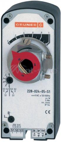 Электропривод  GRUNER 341-230D-03 (3 Н*м) с возвр. пружиной