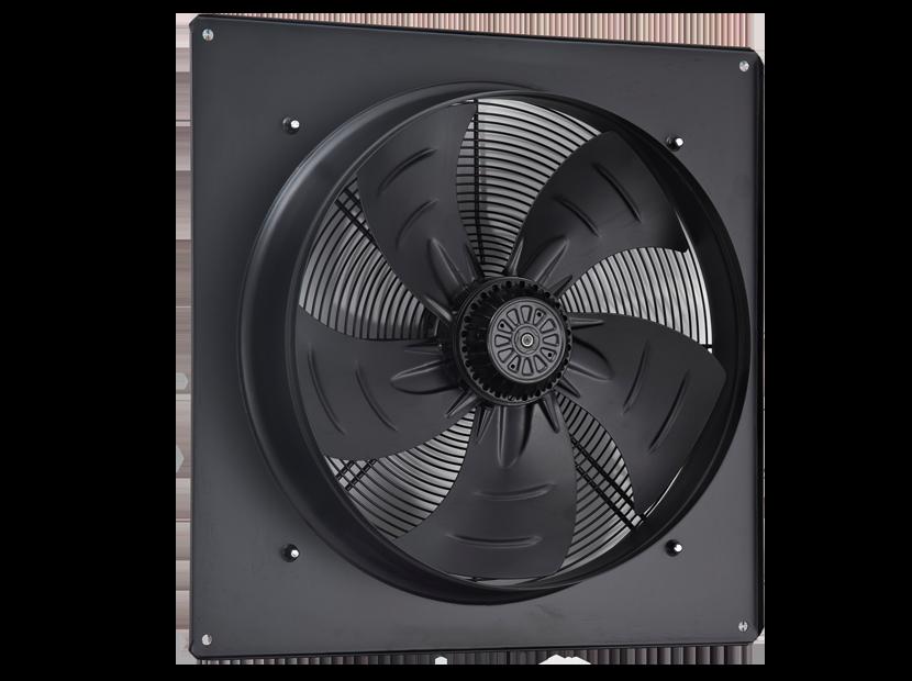 Вентилятор осевой на пластине AXW 200-В-2Е (черн.)